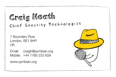 Craig Heath Business Card