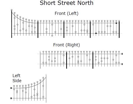 Short Street North Railings